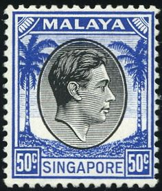 King George VI Stamps Queen Elizabeth Stamps Malaya Postage Stamps