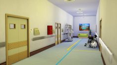 Corridor decoDL Floor Stripes (3 colors - rug)DL Numbers n Wait sign (stickers)