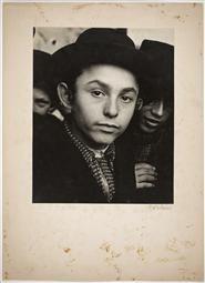 Jewish Life in Eastern Europe, ca. 1935-38   Roman Vishniac Archive Students gathering outside the yeshiva of Rabbi Baruch Rabinowitz, Mukacevo
