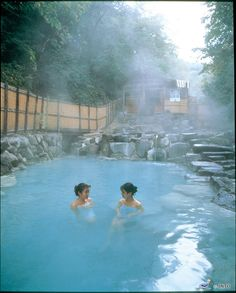 Relaxing at Zao Hot Springs, a large open-air bath in Yamagata, #Japan