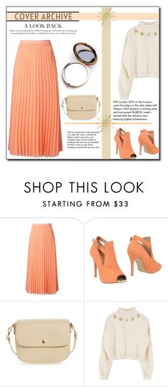 """""""Apricot !"""" by emapolyvore ❤ liked on Polyvore featuring Miss Selfridge, PrimaDonna, BP., Tiffany & Co. and Odeme"""