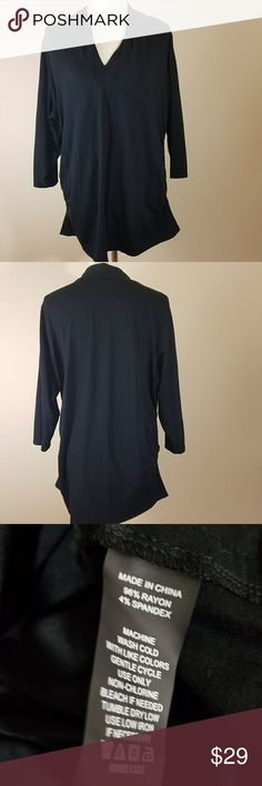 """Vince camuto black blouse plus 2x Vince Camuto Plus size women's 2X black 3/4 sleeves  Fabric: 96% Rayon 4%Spandex  Armpit to Armpit: 23 1/2"""" Vince Camuto Tops Blouses"""