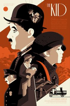 Nautilus Art Prints will release a series of posters based on the films of Charlie Chaplin today. This amazing screenprint is by Tom Whalen.