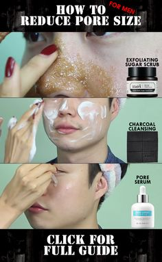 FOR THE MEN! Tired of large pore, blackheads and oily skin? Start the simplest skincare steps to save your skin!  http://www.wishtrend.com/glam/how-to-reduce-pore-size-for-men/  #pores #largepores #skincare #skincareroutine #manskincare #koreanskincare