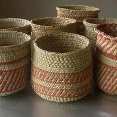 Iringa Basket by Linda Ferrol Studio -  multi use for markers/pens, little waste basket.