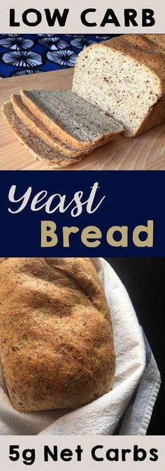 This recipe for low carb yeast bread is the perfect mix of yeasty goodness and low carb credibility. It's real bread that only has 5g net carb per slice. Wonder bread, if you will. This recipe is Low Carb, Atkins, LCHF, and Sugar Free.