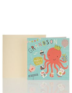 Under the Sea Grandson Birthday Card Home
