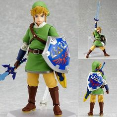 This 14cm recreation of the courageous young hero of The Legend of Zelda comes with his primary weapon, the Master Sword and his trusty Hylian Shield. Beautifully sculpted with great attention to deta