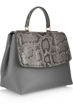 Dolce & Gabbana | Margarita python and leather tote | NET-A-PORTER.COM