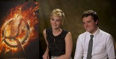 Jennifer Lawrence and Josh Hutcherson, ultimate jokesters...Great Video. I just love them sooooo much. Ha.