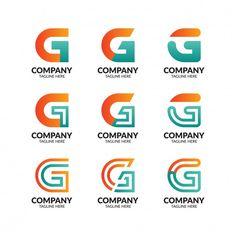 G Logo Design, Logo Design Template, Logo Templates, Initial Letters, Letter Logo, Alphabet, Arrow Logo, Love Logo, Initials Logo