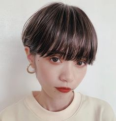 Pin on 髪型 Asian Short Hair, Short Hair Cuts, Short Hair Styles, Hair Images, Short Hairstyles For Women, Hair Dos, Hair Inspiration, Hair Color, Hair Beauty
