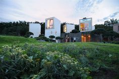 Built by Christian Pottgiesser Architectures Possibles in Yvelines, France with date 2011. Images by George Dupin. Maison L « A house as a small town »    Less than half an hour's drive west from Paris city center, designed as an ex...