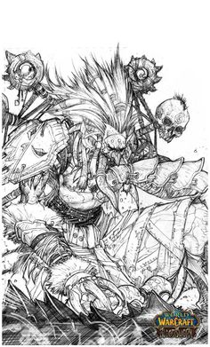world of warcraft coloring pages - Google Search