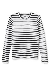 <p>The Beyond l/s Stripe Tee is a long-sleeved tee witha simple round neckline and a classic nautical stripe print in black and white.</p><p>- Size Small measures 89 cm in chest circumference and 65 cm in length. The sleeve length is 65 cm.</p>