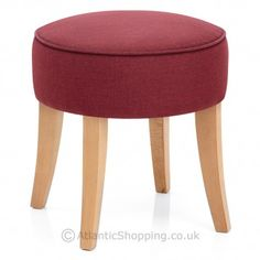 Our George Oak Low Stool Red Fabric would make the perfect accompaniment to a relaxed lounge space.