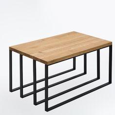 OWIEDO wyróżnia się harmonijną strukturą i precyzją wykonania. Elegancki stolik kawowy ma ciekawą podstawę, składającą się z czterech symetrycznych profili, pomalowanych na czarno. Blat z litego dębu o grubości 30 mm idealnie komponuje się z geometryczną linią podstawy. Coffee, Table, Furniture, Home Decor, Kaffee, Decoration Home, Room Decor, Cup Of Coffee, Tables