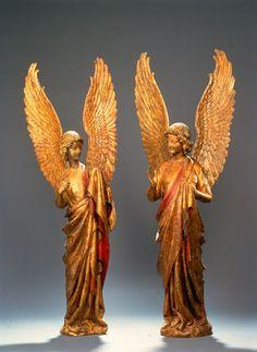 Anges dits de Saudemont, Nord de la France, vers 1270-1300, Bois, polychromie, Arras, musée des Beaux-Arts