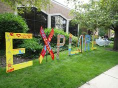 The finished EXPLORE installation at Forest Park Public Library. Photo by Elaine Luther.