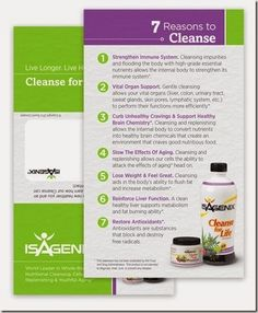 7 Reasons To Cleanse. Cleanse for Life. Isagenix. Cleanse and detox. nutritional cleansing