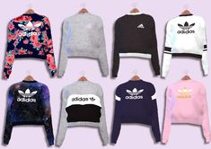 Adidas Sweaters Collection Female Teen - Young - Adult - Elder HQ Mod compatible You need the mesh t Sims 4 Teen, Sims 4 Toddler, Sims 1, Sims Mods, Sims 4 Dresses, Sims4 Clothes, Best Sims, Sims 4 Cc Packs, Sims 4 Game