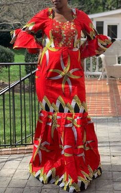 This ankara dress can be worn for any occasion. cotton Care instructions : Machine wash and air dry or dry clean Latest African Fashion Dresses, African Print Fashion, African Wear, African Dress, Ankara Maxi Dress, Kids Fashion, Fashion Outfits, Elegance Style, Clothing Styles