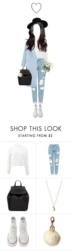 """165  ♡"" by cutefatboy ❤ liked on Polyvore featuring T By Alexander Wang, Topshop, Mansur Gavriel, claire's, Converse, IMoshion and indie"