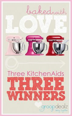 Enter to win a Kitchen Aid!!  www.somethingswanky.com