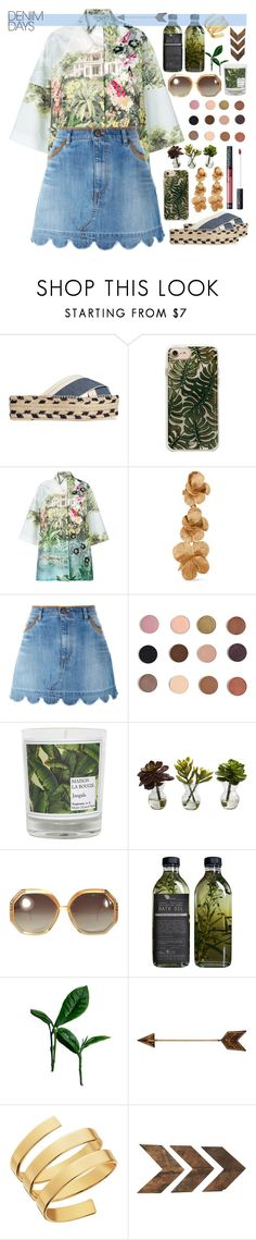 """Jean Dreams: Denim Skirts"" by maymimix ❤ liked on Polyvore featuring STELLA McCARTNEY, Antonio Marras, Oscar de la Renta, RED Valentino, Kat Von D, Maison La Bougie, Nearly Natural, Ted Lapidus, AMBRE and WALL"