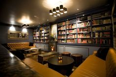 Library Bar in Los Angeles - 15 Amazing Book-Filled Bars Where We'd Like to Drink Library Bar, Library Room, Dream Library, Architecture Restaurant, Restaurant Design, Restaurant Bar, Modern Architecture, Book Bar, Personal Library