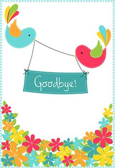 """Goodbye from your colleagues"" printable card. Customize, add text and photos. print for free!"