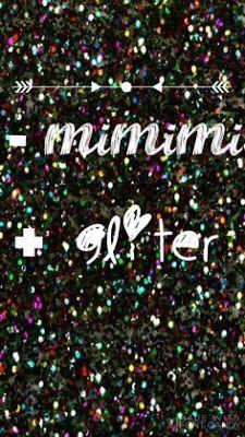 -mimimi +gliter papel de parede