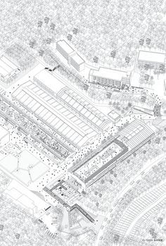 Axonometric. MAG Museum by O-office Architects. Click above to see larger. #axo #museum #b&w