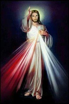 I love Jesus Divine Mercy Image, Miséricorde Divine, Pictures Of Jesus Christ, Religious Pictures, Religious Art, Mary And Jesus, Jesus Is Lord, Jesus Photo, Jesus Christus