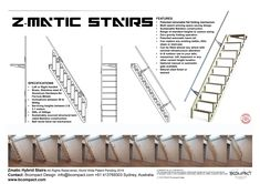 Stair Ladder, Folding Ladder, Loft Stairs, House Stairs, Attic Renovation, Attic Remodel, Small Space Living, Small Spaces, Bamboo Construction