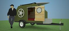 The Caboose is a 48 sqft complete off-grid house on wheels with everything you need for year round living.