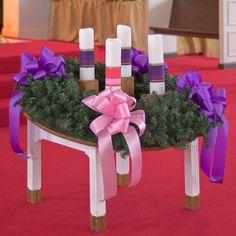 Saint Raphael Roman Catholic Church, in Saint Louis, Missouri, USA - Advent wreath by msabeln, via Flickr