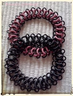 my chainmaille bracelets with rubber rings