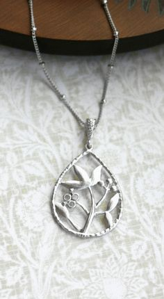 Tree and Flower Necklace. Wishing Tree of life