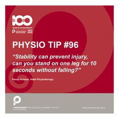 #physio tip: Stability can prevent injury
