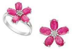 Resultado de imagen de joyas con rubies y brillantes