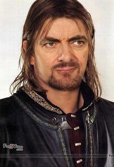 Mr. Bean (Rowan Atkinson) photoshopped as Boromir