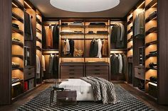 Most stylish Dressing Rooms and most beautiful Luxury Master Bedrooms from all around the world in one place! Stylish walk in closet design ideas; Closet Walk-in, Men Closet, Closet Bedroom, Closet Ideas, Closet Mirror, Wardrobe Room, Master Closet, Diy Bedroom, Walk In Closet Design