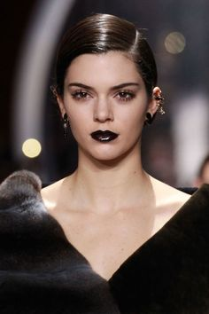 Kendall Jenner walks the runway during the Christian Dior show as part of the Paris Fashion Week Womenswear Fall/Winter on March 4 2016 in. Thom Browne, Makeup Trends, Beauty Trends, Kendall Jenner, Lara Stone, Jessica Rabbit, Inka Williams, Body Positivity, Halloween Look