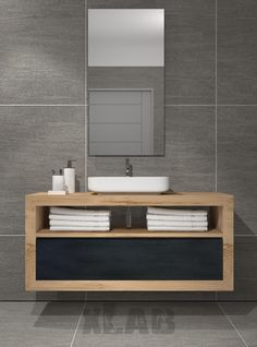 Gray Bathroom Ideas – Invite to our main gray restrooms photo gallery showcasing… Gray Bathroom Ideas – Invite to our main gray restrooms photo gallery showcasing several bathroom ideas of all kinds. Filter by style, size as well as numerous features. Zen Bathroom, Wooden Bathroom, Bathroom Renos, Bathroom Colors, Bathroom Furniture, Small Bathroom, Master Bathroom, Bathroom Ideas, Lavabo Design