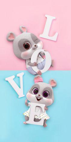 Cute Love Wallpapers, Panda Wallpapers, Cute Wallpaper Backgrounds, Wallpaper Iphone Cute, Cute Cartoon Wallpapers, Cute Images For Wallpaper, Rabbit Wallpaper, Cute Panda Wallpaper, Cute Disney Wallpaper