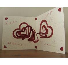Réalisez une carte avec un coeur en relief pour la St Valentin : Laura G