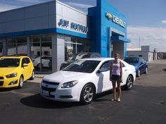 KASEY's new 2012 Chevy Malibu! Congratulations and best wishes from Jay Hatfield Chevrolet and BRIAN WELLMEIER.