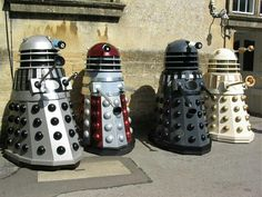 Assortment of vintage daleks