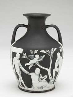 Portland Vase, c. 1795 by Josiah Wedgwood & Sons, British - Jasperware